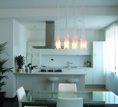 Treperquattro - lampada in vetro soffiato