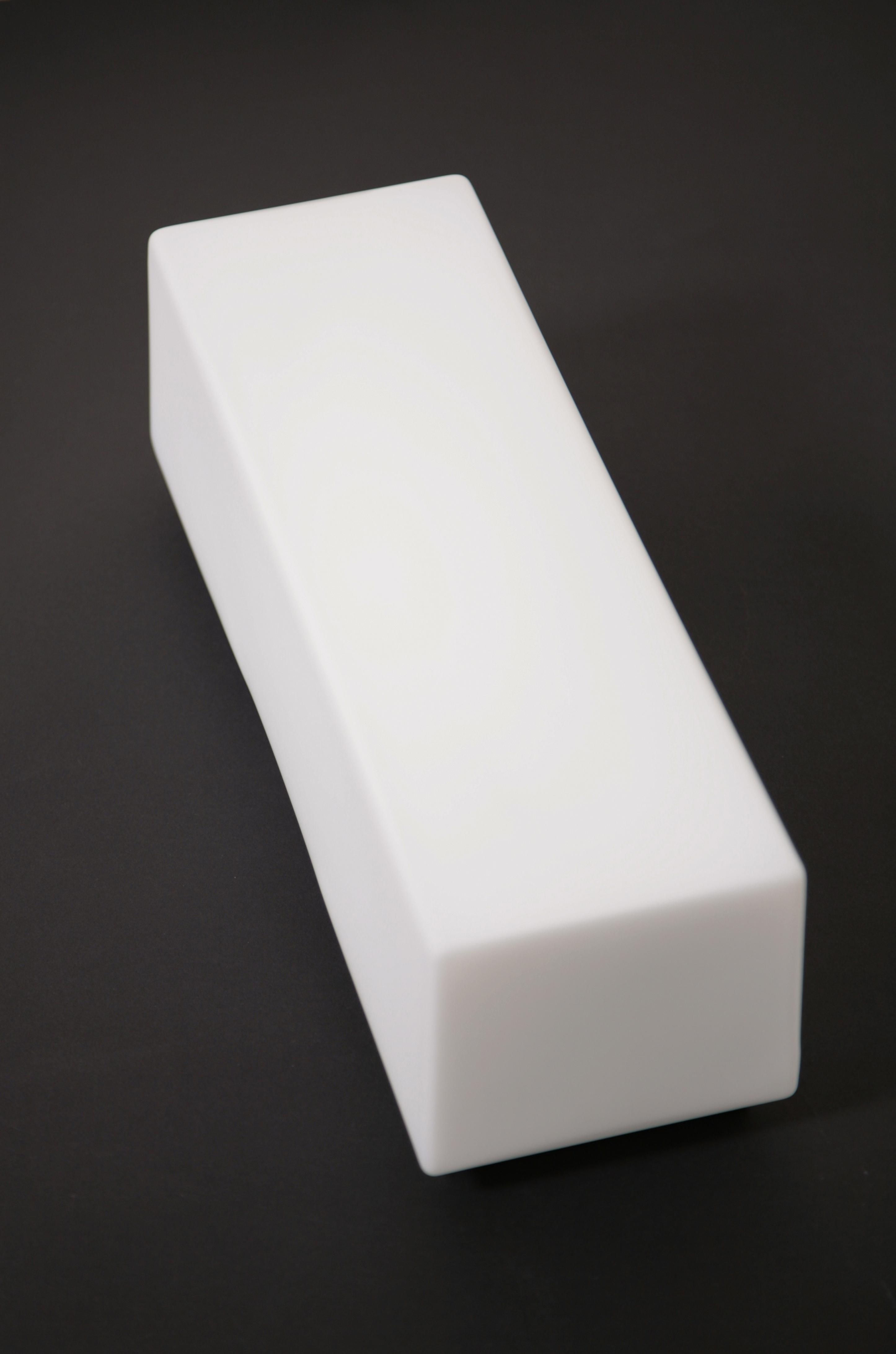 Lampada in vetro bianco