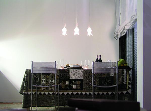 Treperuno - lampada in vetro soffiato
