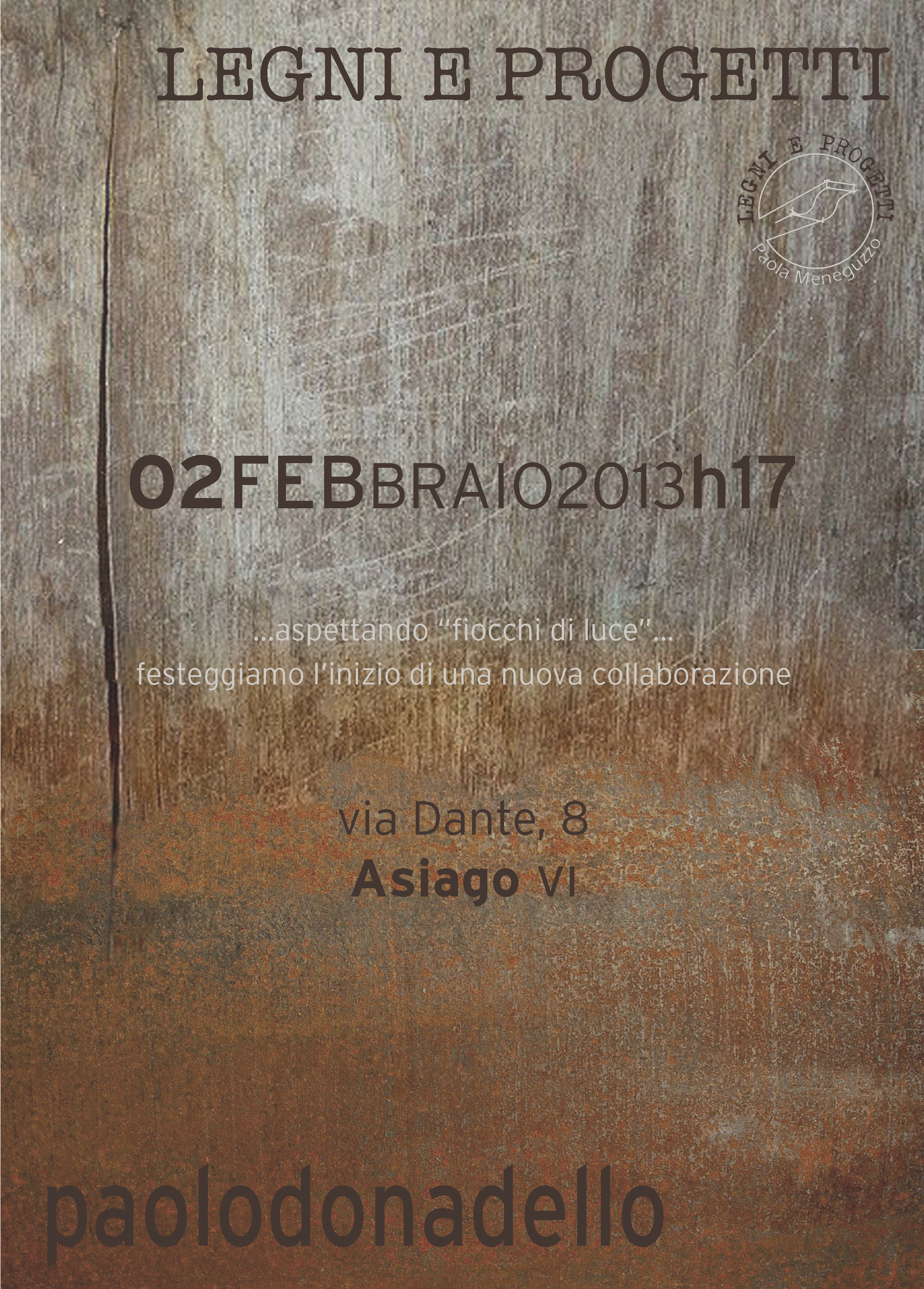 legni e progetti - Asiago - invito